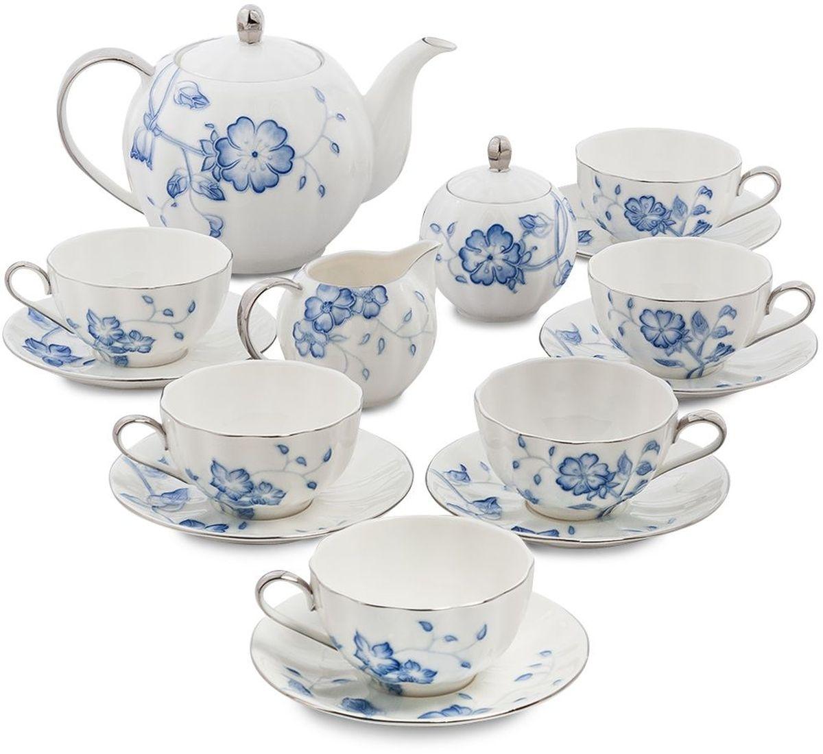 Сервиз чайный Pavone Голубая бабочка, 15 предметов. 451601451601Объем чайника: 1 лОбъем сахарницы: 200 мл Объем молочника: 200 мл Объем чашки: 200 млДиаметр блюдца: 14 см.