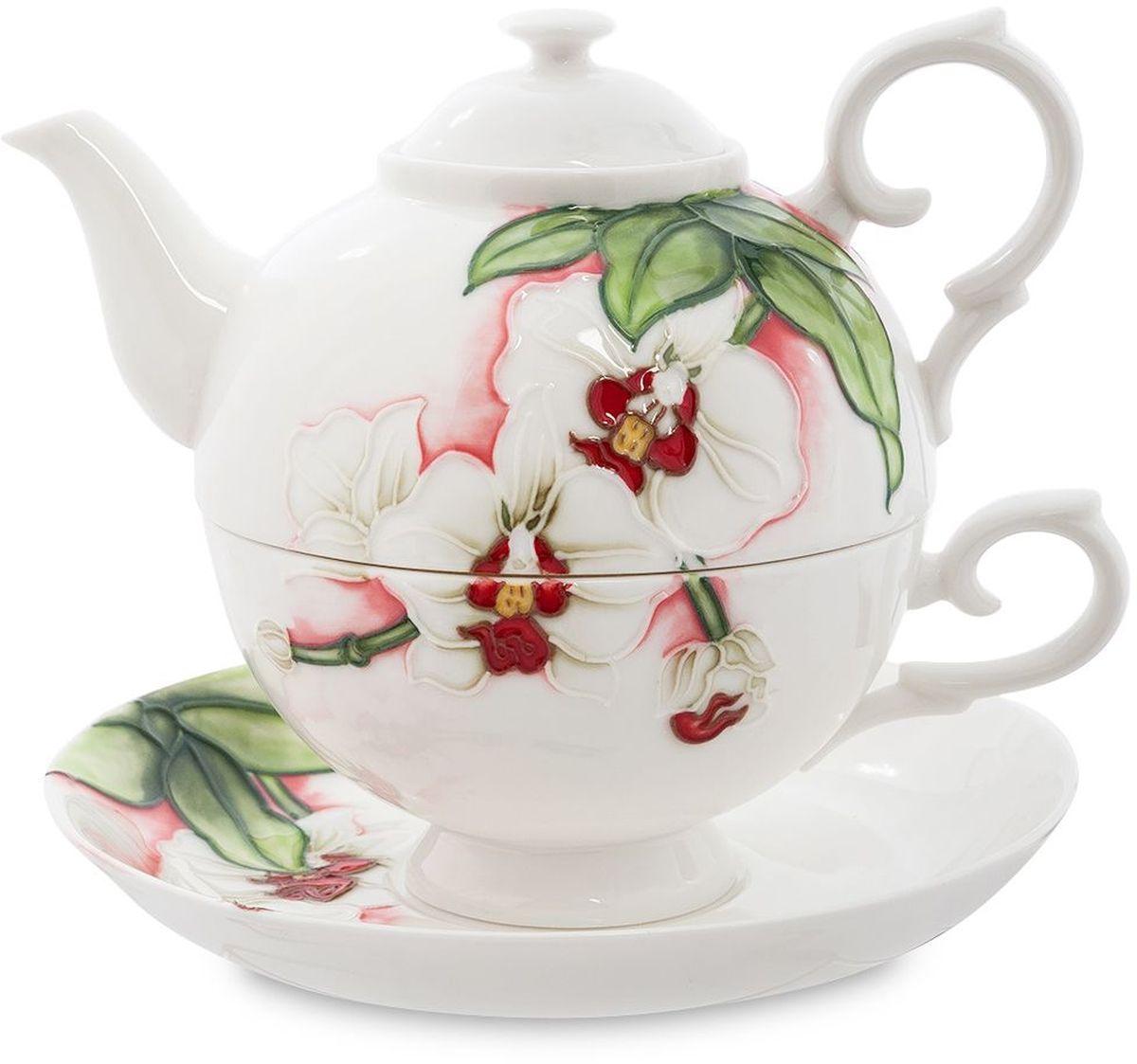 Набор чайный Pavone Королевская орхидея, 3 предмета. 451610451610Объем чайника: 400 млОбъем чаши: 250 млДиаметр блюдца: 15 см