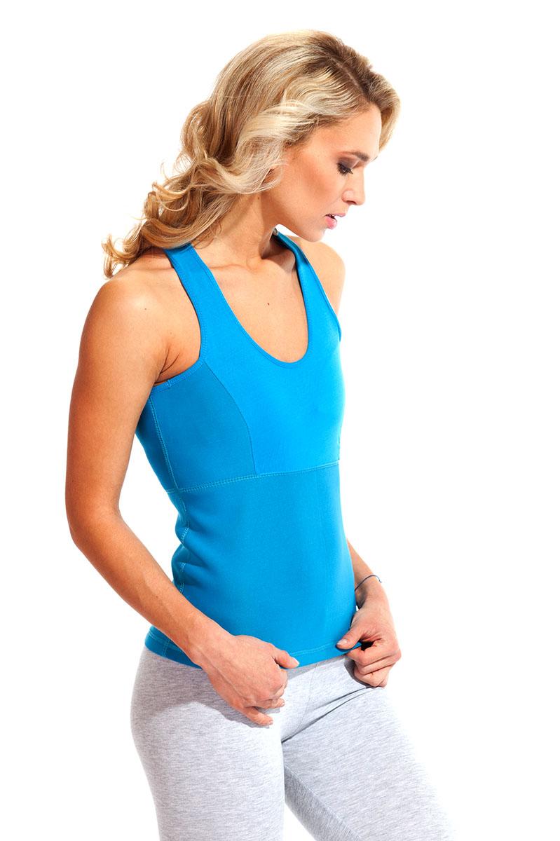 Майка для похудения женская Bradex Body Shaper, цвет: голубой. SF 0139. Размер XXXXL (56/58)