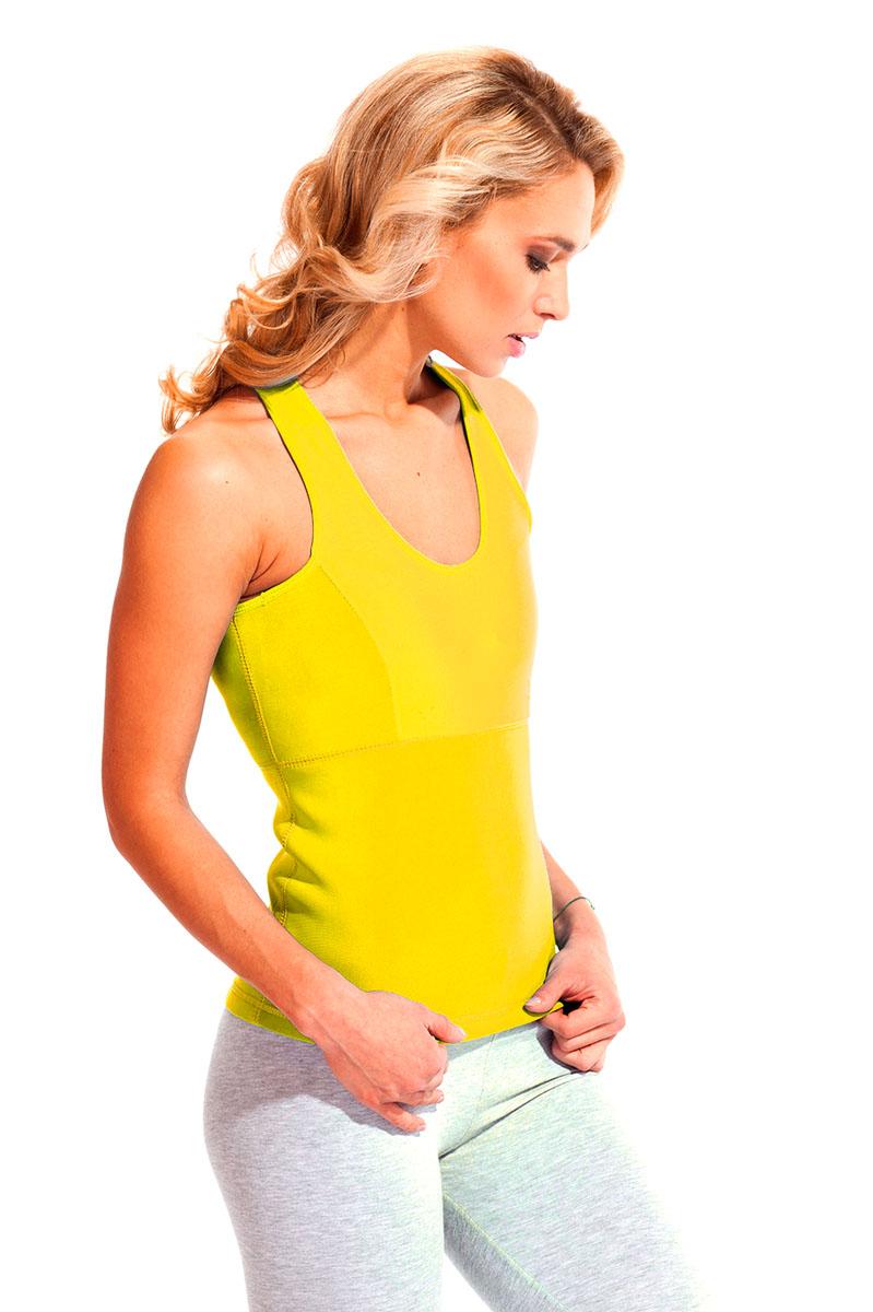 Майка для похудения женская Bradex Body Shaper, цвет: желтый. SF 0128. Размер L (48)Body ShaperМайка для похудения женская Bradex Body Shaper изготовлена из инновационной ткани, которая стимулирует интенсивное потоотделение, сжигая калории на спине, боках, груди, животе и выводя вместе с потом все токсины. Наденьте майку и просто гуляйте, играйте с детьми, готовьте, проводите уборку. - Двигаясь в обычном режиме, Ваше тело под майкой потеет в 4 раза сильнее, чем под обычной одеждой. - Нижний слой материала усиливает потоотделение, а наружный – оставляет одежду сухой. Худейте без перегрузок и с удовольствием!