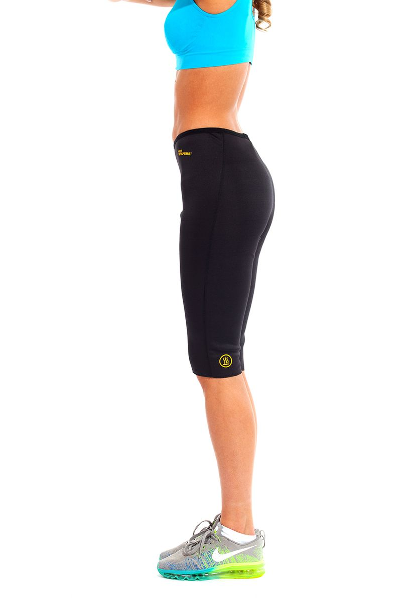 Бриджи для похудения женские Bradex Хот Шейперс, цвет: черный, желтый. SF 0125. Размер XXXXL (56/58) - Одежда