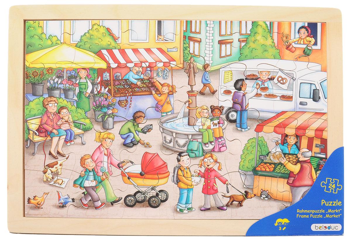 Beleduc Пазл для малышей Рынок нескучный кубик пазл для малышей фрукты