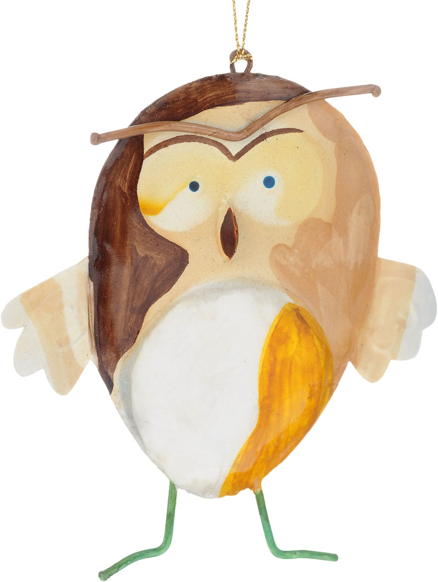 Украшение новогоднее подвесное Winter Wings Сова, 10,5 х 1 х 12 смN181610Новогоднее подвесное украшение Winter WingsСовавыполнено из металла. Спомощьюспециальной петельки украшение можно повесить влюбом понравившемся вамместе. Но, конечно, удачнее всего оно будетсмотреться на праздничной елке.Елочная игрушка - символ Нового года. Она несет всебе волшебство и красотупраздника. Создайте в своем доме атмосферувеселья и радости, украшаяновогоднюю елку нарядными игрушками, которыебудут из года в год накапливатьтеплоту воспоминаний. Размер: 10,5 х 1 х 12 см.