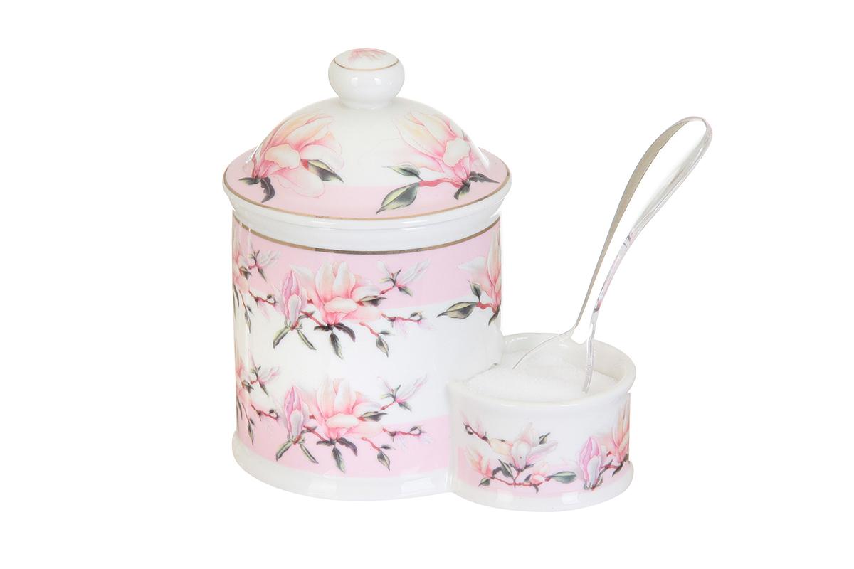 Банка для соли Elan Gallery Орхидея на розовом, с ложкой, 350 мл503785Банка для соли Elan Gallery Орхидея на розовом, изготовленная из высококачественной керамики, подойдет не только для соли, но и для сахара, специй и даже меда. Изделие имеет изысканный внешний вид. В комплект входит пластиковая ложечка. Такая банка для соли стильно оформит интерьер кухни. Не рекомендуется использовать абразивные моющие средства. Не использовать в микроволновой печи.Размер банки: 13 х 8,5 х 13,5см.
