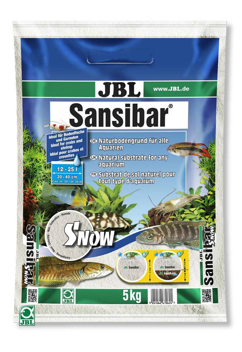 Декоративный мелкий грунт для аквариума JBL Sansibar, снежно-белый, 5 кг скребок для аквариума хаген складной