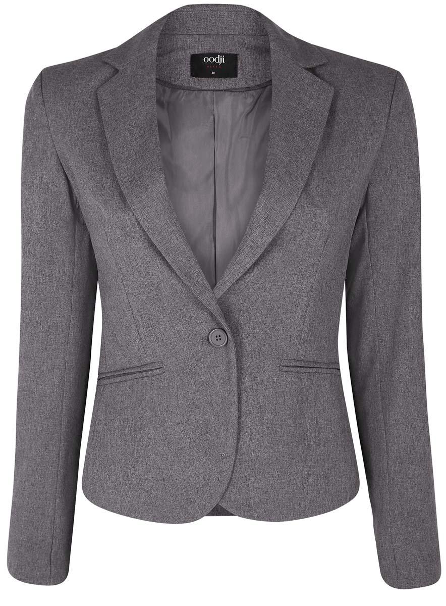 все цены на Жакет женский oodji Ultra, цвет: серый. 11200286-1B/14917/2500M. Размер 36 (42-164) онлайн