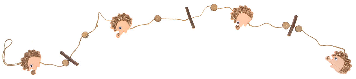 Гирлянда декоративная House & Holder, цвет: коричневый, бежевый, длина 1,2 м15125Новогодняя декоративная гирлянда House & Holder прекрасно подойдет для декора дома и праздничной елки. Украшение выполнено из дерева.Новогодние украшения несут в себе волшебство и красоту праздника. Они помогут вам украсить дом к предстоящим праздникам и оживить интерьер по вашему вкусу. Создайте в доме атмосферу тепла, веселья и радости, украшая его всей семьей.