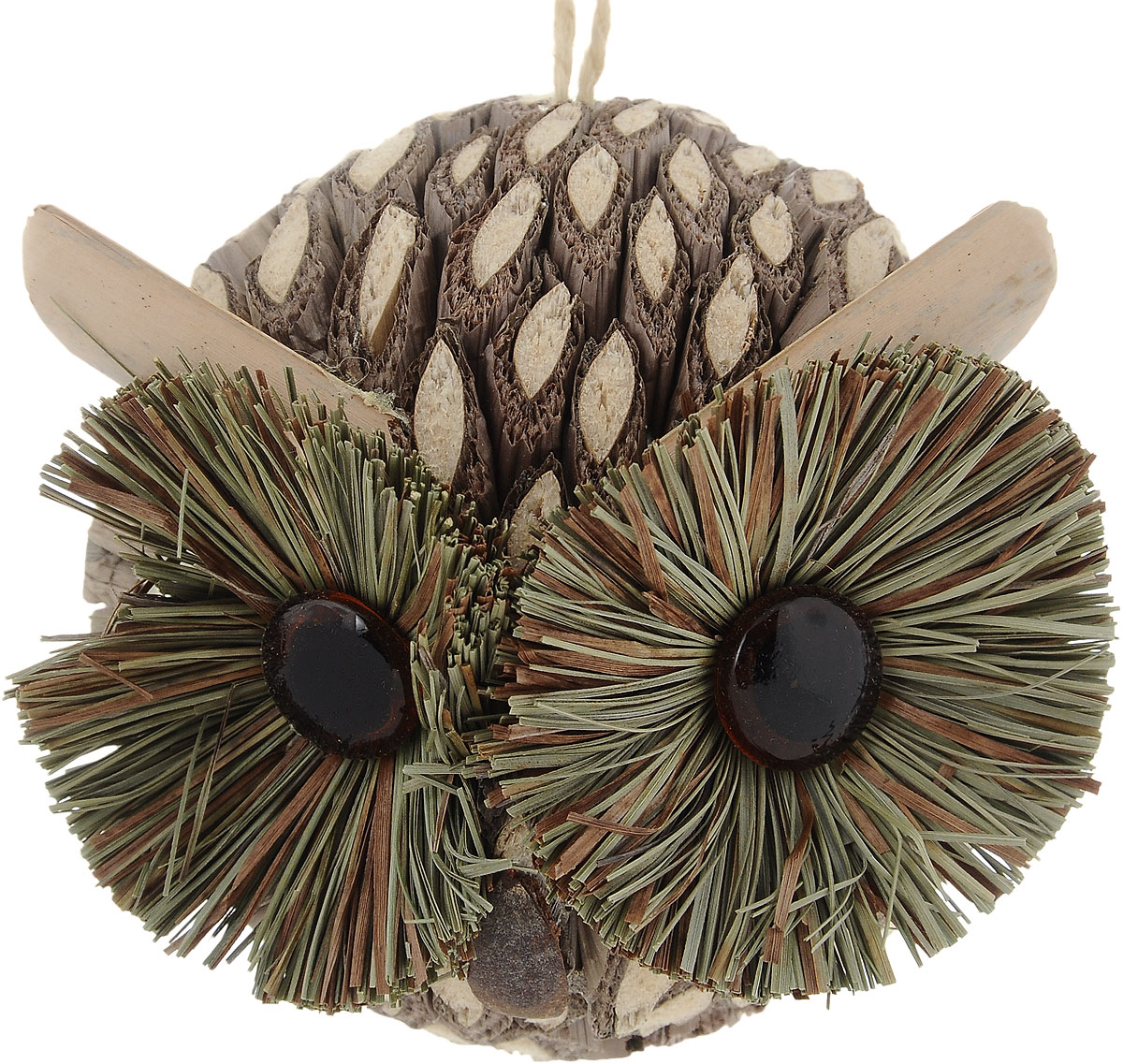 Украшение новогоднее подвесное Winter Wings Сова, диаметр 9 смN181392Новогоднее подвесное украшение Winter Wings Сова выполнено из соломы в виде очаровательной совы. С помощью специальной петельки украшение можно повесить в любом понравившемся вам месте. Но, конечно, удачнее всего оно будет смотреться на праздничной елке.Елочная игрушка - символ Нового года. Она несет в себе волшебство и красоту праздника. Создайте в своем доме атмосферу веселья и радости, украшая новогоднюю елку нарядными игрушками, которые будут из года в год накапливать теплоту воспоминаний.Диаметр: 9 см.
