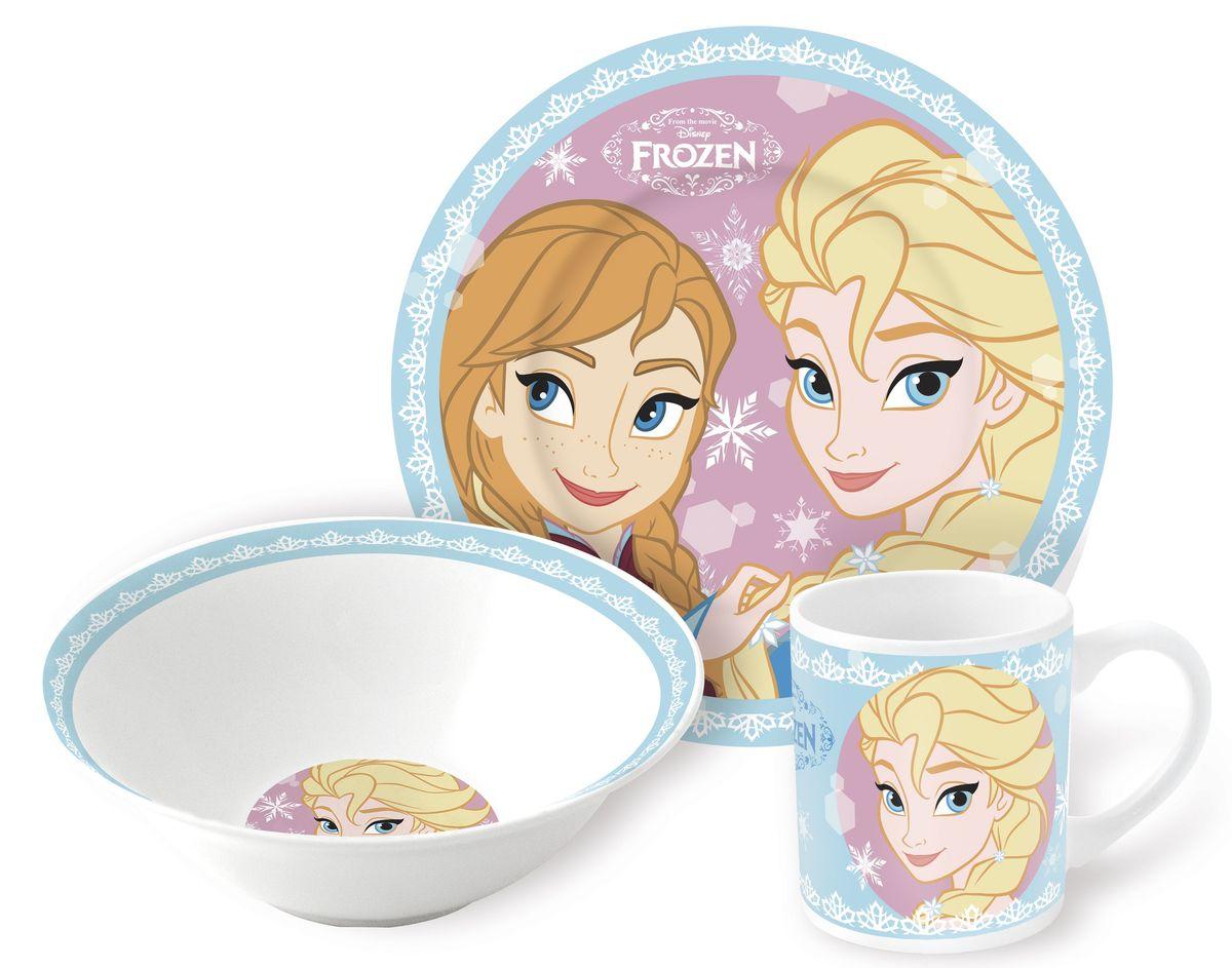 Stor Набор детской посуды Холодное сердце Сестры 3 предмета78768Оригинальная керамическая посуда Stor с изображением любимых героев – прекрасный подарок для детей и взрослых.