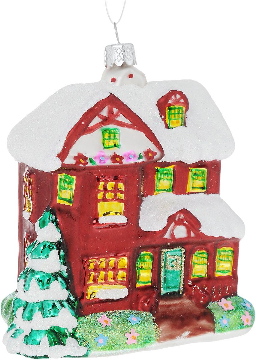 Украшение новогоднее подвесное Winter Wings Дом, высота 11 смN07819Новогоднее подвесное украшение Winter WingsДомвыполнено из стекла. Изделиеоформлено блестками. Спомощьюспециальной петельки украшение можно повесить влюбом понравившемся вамместе. Но, конечно, удачнее всего оно будетсмотреться на праздничной елке.Елочная игрушка - символ Нового года. Она несет всебе волшебство и красотупраздника. Создайте в своем доме атмосферувеселья и радости, украшаяновогоднюю елку нарядными игрушками, которыебудут из года в год накапливатьтеплоту воспоминаний. Размер: 9 х 6 х 11 см.