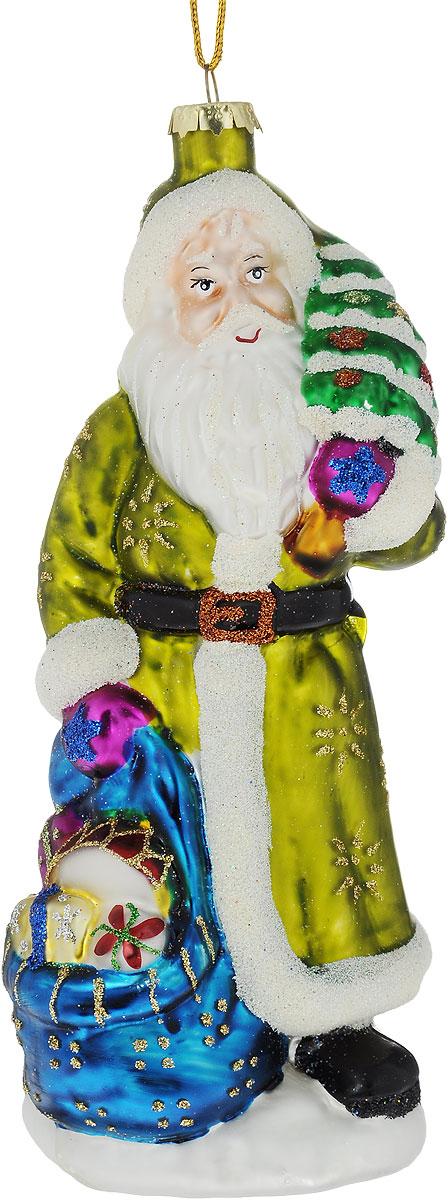 Украшение новогоднее подвесное Winter Wings Дед Мороз с елкой, высота 19 смN07704Новогоднее подвесное украшение Winter Wings Дед Мороз с елкой выполнено из стекла. Изделие оформлено блестками. С помощью специальной петельки украшение можно повесить в любом понравившемся вам месте. Но, конечно, удачнее всего оно будет смотреться на праздничной елке.Елочная игрушка - символ Нового года. Она несет в себе волшебство и красоту праздника. Создайте в своем доме атмосферу веселья и радости, украшая новогоднюю елку нарядными игрушками, которые будут из года в год накапливать теплоту воспоминаний.Размер: 7 х 8 х 19 см.