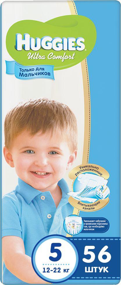 Huggies Подгузники для мальчиков Ultra Comfort 12-22 кг (размер 5) 56 шт