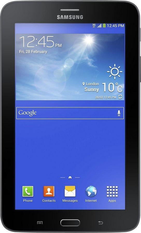 Samsung Galaxy Tab 3 Lite SM-T116, Ebony BlackSM-T116NYKASERПланшет Samsung Galaxy Tab 4 Lite доступен по демократичной цене, особенно приятной для устройства данной марки. Это бюджетный вариант предыдущей, третьей, версии девайса, не уступающий ей в функциональности. Модель качественно собрана, оснащена семидюймовым дисплеем с разрешением 1024х600 пикселей и производительным двухъядерным процессором. Она предназначена для комфортного веб-серфинга, общения, развлечений и станет отличным выбором для активного пользователяПланшет сертифицирован Ростест и имеет русифицированный интерфейс, меню и Руководство пользователя.