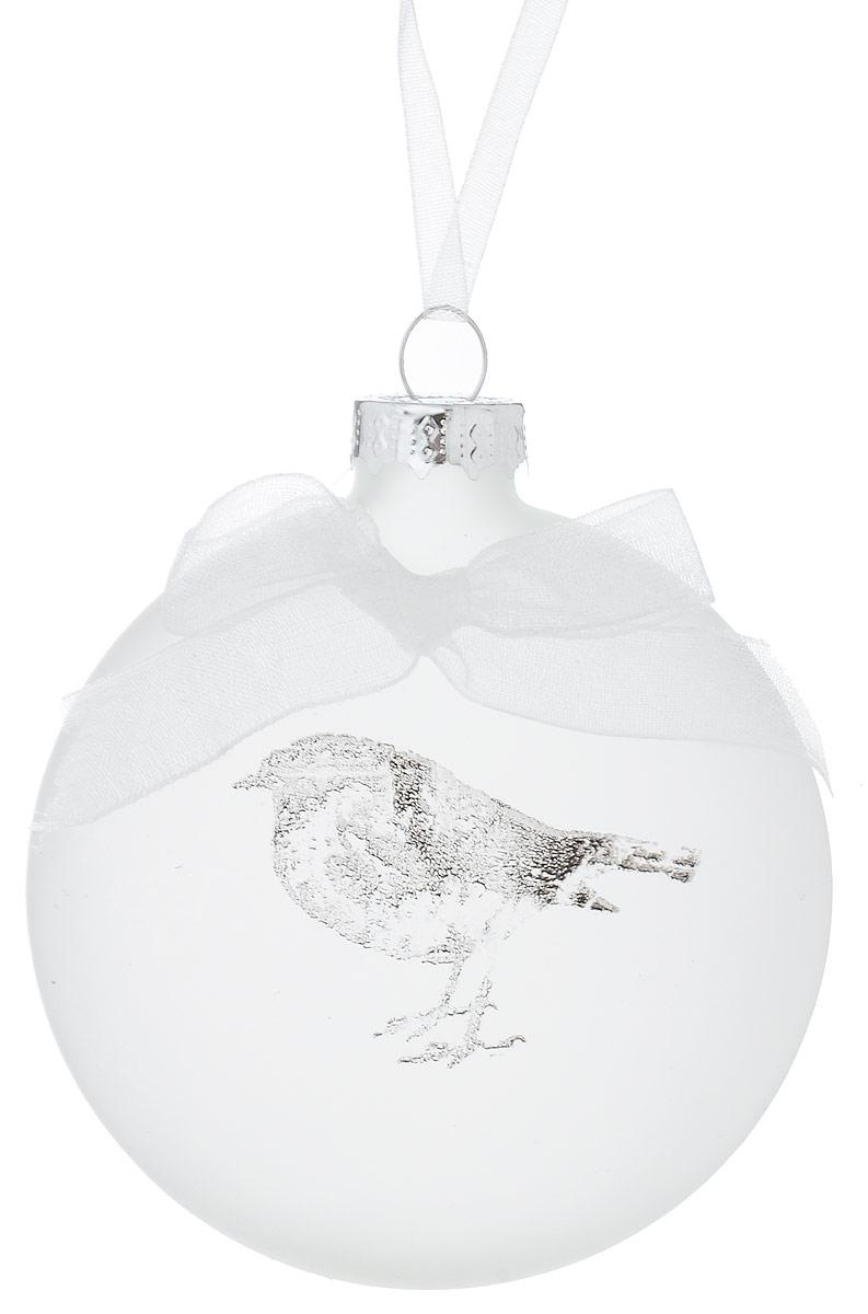 Украшение новогоднее подвесное Winter Wings Птичка, 7 х 2,5 х 7 смN07970Украшение Winter Wings Птичка прекрасно подойдет для праздничного декора новогодней ели. Изделие выполнено из матового стекла с изображением птички и украшено текстильным бантиком. Для удобного размещения на елке предусмотрена петелька.Елочная игрушка - символ Нового года. Она несет в себе волшебство и красоту праздника. Создайте в своем доме атмосферу веселья и радости, украшая новогоднюю елку нарядными игрушками, которые будут из года в год накапливать теплоту воспоминаний.