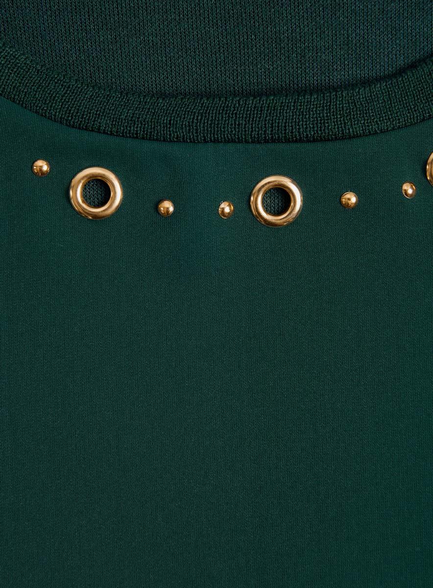 Блузка женская oodji Collection, цвет:  темно-изумрудный.  24201014/43616/6E97P.  Размер XL (50) oodji