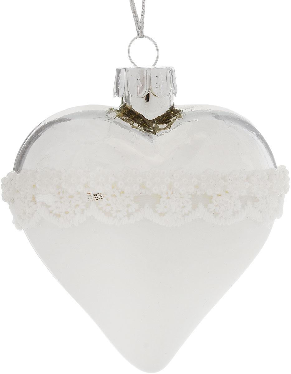 Украшение новогоднее подвесное Winter Wings Сердце, 7 х 4 х 7 см. N07996 pair of stylish rhinestone alloy stud earrings for women