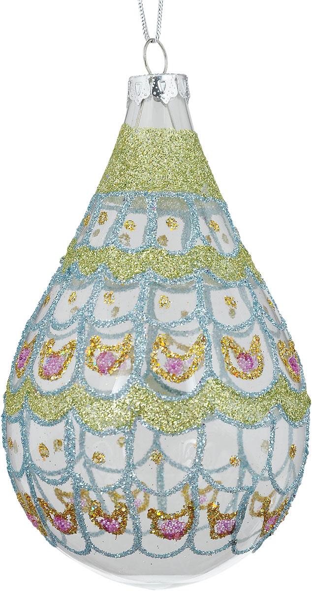 Украшение новогоднее подвесное Winter Wings Капля. Павлин, высота 12 смN07681Новогоднее подвесное украшение Winter Wings Капля. Павлин выполнено из стекла в виде капли. Изделие оформлено блестками. С помощью специальной петельки украшение можно повесить в любом понравившемся вам месте. Но, конечно, удачнее всего оно будет смотреться на праздничной елке.Елочная игрушка - символ Нового года. Она несет в себе волшебство и красоту праздника. Создайте в своем доме атмосферу веселья и радости, украшая новогоднюю елку нарядными игрушками, которые будут из года в год накапливать теплоту воспоминаний.Размер: 12 х 6,5 см.