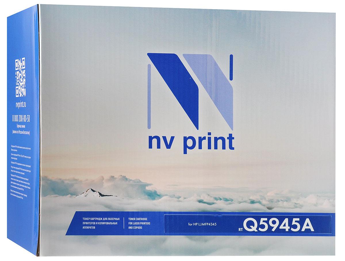 NV Print Q5945A, Black тонер-картридж для HP LaserJet MFP4345Q5945AСовместимый лазерный картридж NV Print Q5945A для печатающих устройств HP - это альтернатива приобретению оригинальных расходных материалов. При этом качество печати остается высоким.Лазерные принтеры, копировальные аппараты и МФУ являются более выгодными в печати, чем струйные устройства, так как лазерных картриджей хватает на значительно большее количество отпечатков, чем обычных. Для печати в данном случае используются не чернила, а тонер.