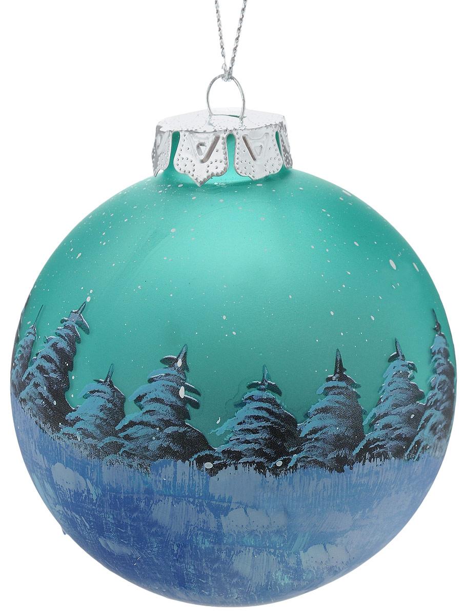 Украшение новогоднее подвесное Winter Wings Шар, диаметр 8 см. N07928N07928Украшение Winter Wings Шар прекрасно подойдет для праздничного декора новогодней ели. Изделие выполнено из высококачественного стекла. Для удобного размещения на елке предусмотрено ушко для веревочки.Елочная игрушка - символ Нового года. Она несет в себе волшебство и красоту праздника. Создайте в своем доме атмосферу веселья и радости, украшая новогоднюю елку нарядными игрушками, которые будут из года в год накапливать теплоту воспоминаний.