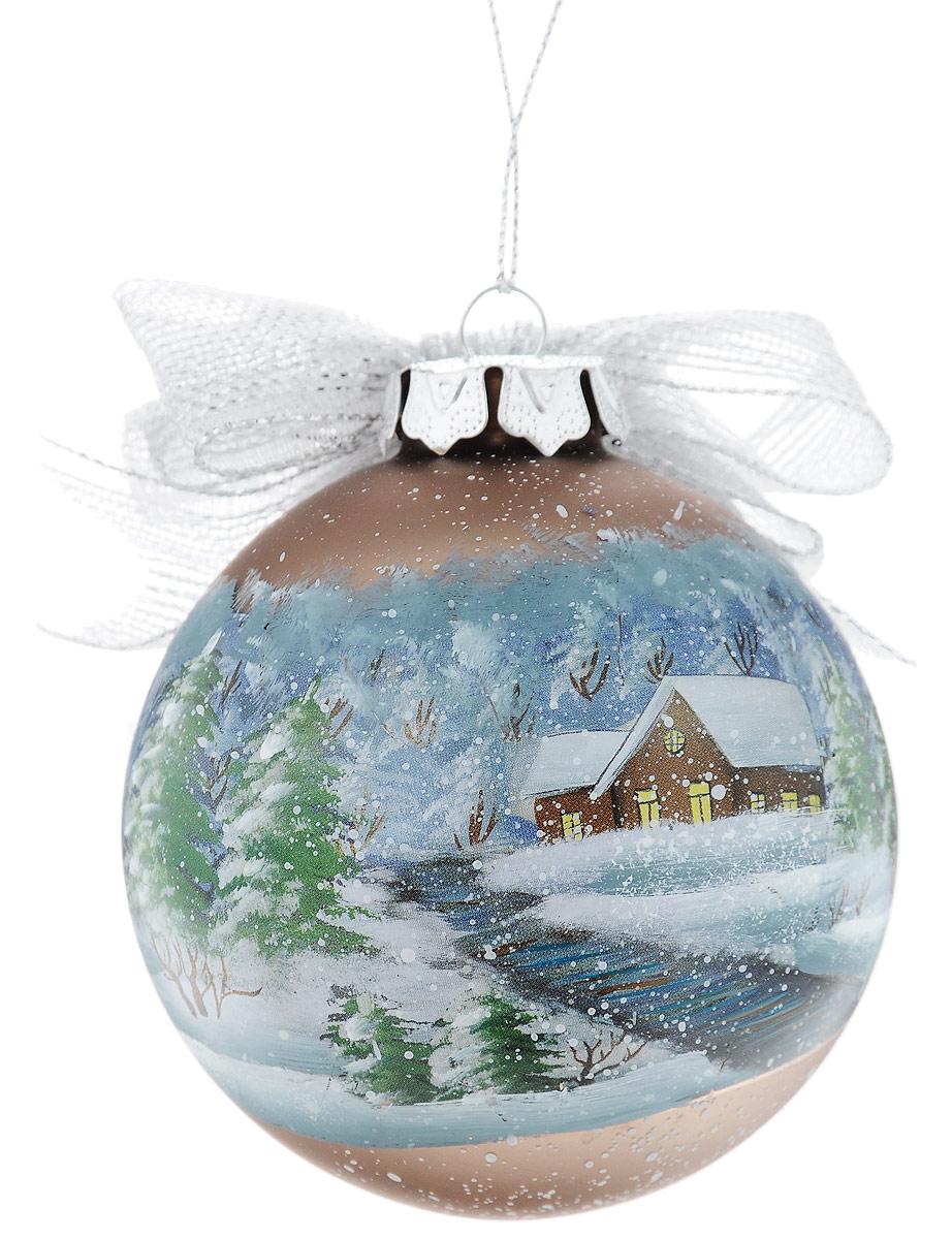 Украшение новогоднее подвесное Winter Wings Шар, диаметр 8 см. N07933N07933Украшение Winter Wings Шар прекрасно подойдетдля праздничного декора новогодней ели. Изделиевыполнено из высококачественного стекла и украшенобантиком. Для удобного размещения на елкепредусмотрена текстильная петелька. Елочная игрушка - символ Нового года. Она несет в себеволшебство и красоту праздника. Создайте в своем домеатмосферу веселья и радости, украшая новогоднюю елкунарядными игрушками, которые будут из года в годнакапливать теплоту воспоминаний.