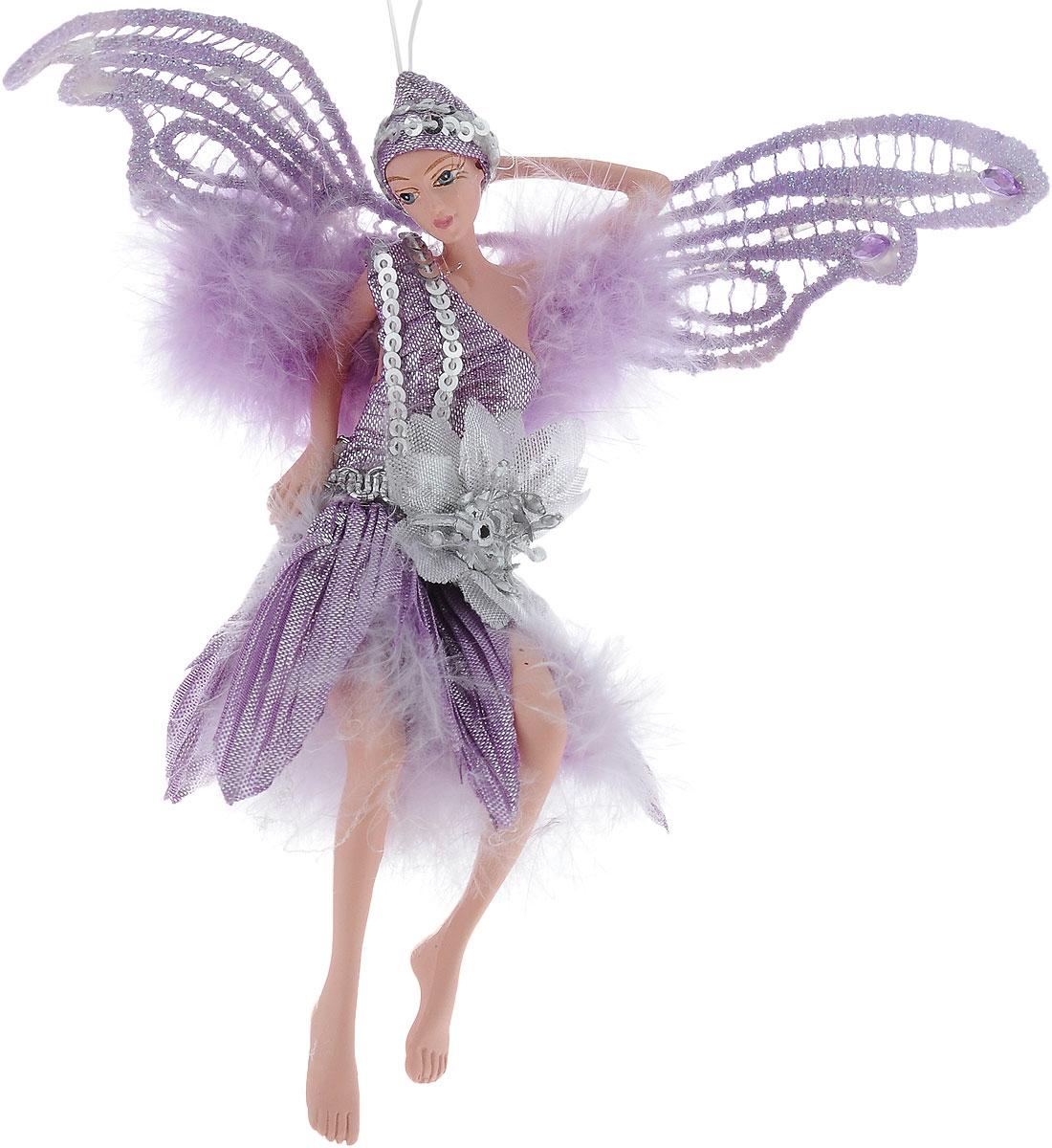 Украшение декоративное подвесное Winter Wings Фея, высота 15 смN181722Новогоднее подвесное украшение Winter Wings Феявыполнено из полирезины в виде очаровательной феи с крыльями. Изделиеоформлено перьями и блестками. Спомощьюспециальной петельки украшение можно повесить влюбом понравившемся вамместе. Но, конечно, удачнее всего оно будетсмотреться на праздничной елке.Елочная игрушка - символ Нового года. Она несет всебе волшебство и красотупраздника. Создайте в своем доме атмосферувеселья и радости, украшаяновогоднюю елку нарядными игрушками, которыебудут из года в год накапливатьтеплоту воспоминаний. Размер: 12 х 7 см. Высота: 15 см.