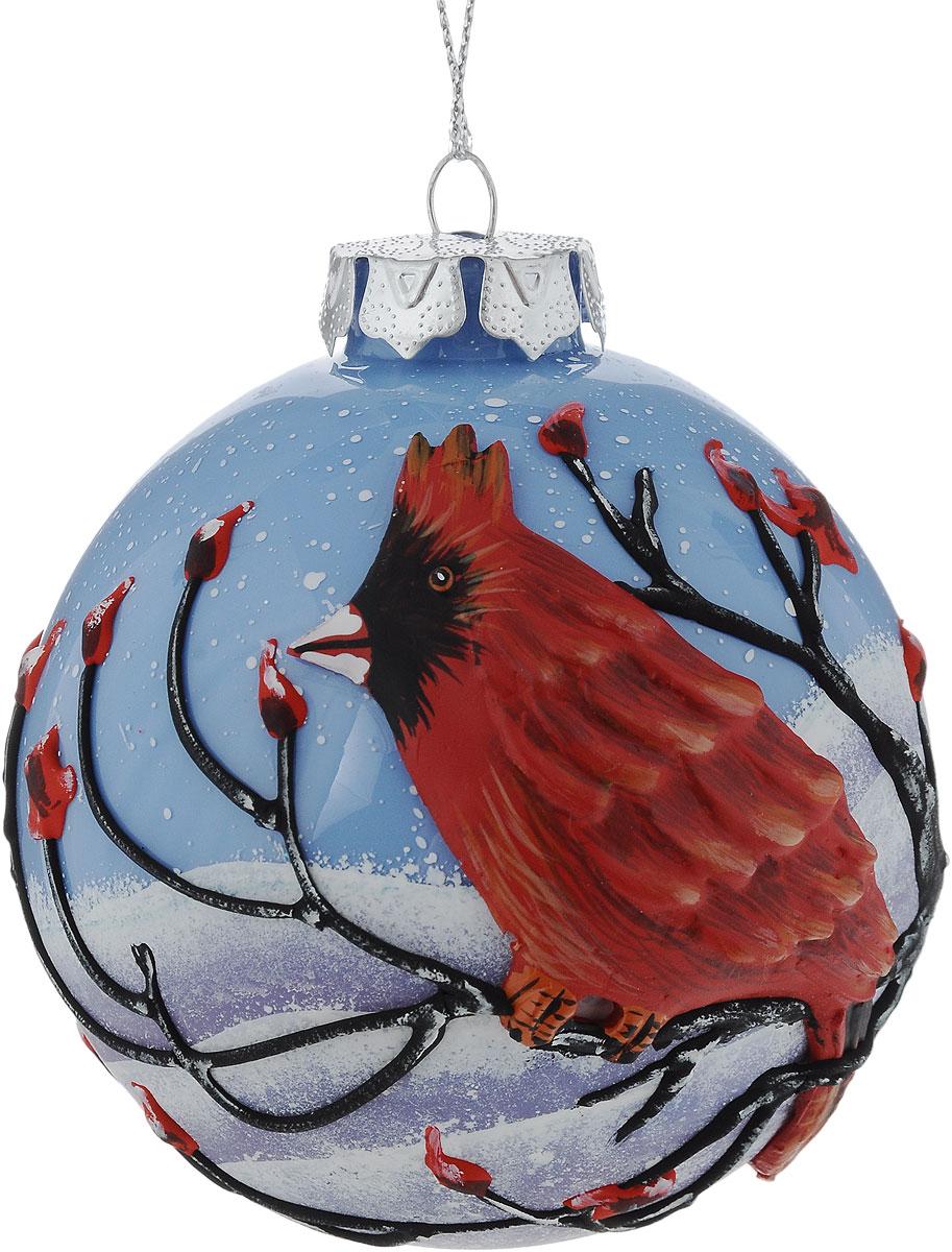 Украшение новогоднее подвесное Winter Wings Шар, диаметр 8 см. N07924N07924Новогоднее подвесное украшение Winter Wings Шар выполнено из стекла в виде шара. Изделие оформлено рельефным изображением птиц. С помощью специальной петельки украшение можно повесить в любом понравившемся вам месте. Но, конечно, удачнее всего оно будет смотреться на праздничной елке.Елочная игрушка - символ Нового года. Она несет в себе волшебство и красоту праздника. Создайте в своем доме атмосферу веселья и радости, украшая новогоднюю елку нарядными игрушками, которые будут из года в год накапливать теплоту воспоминаний.Диаметр: 8 см.