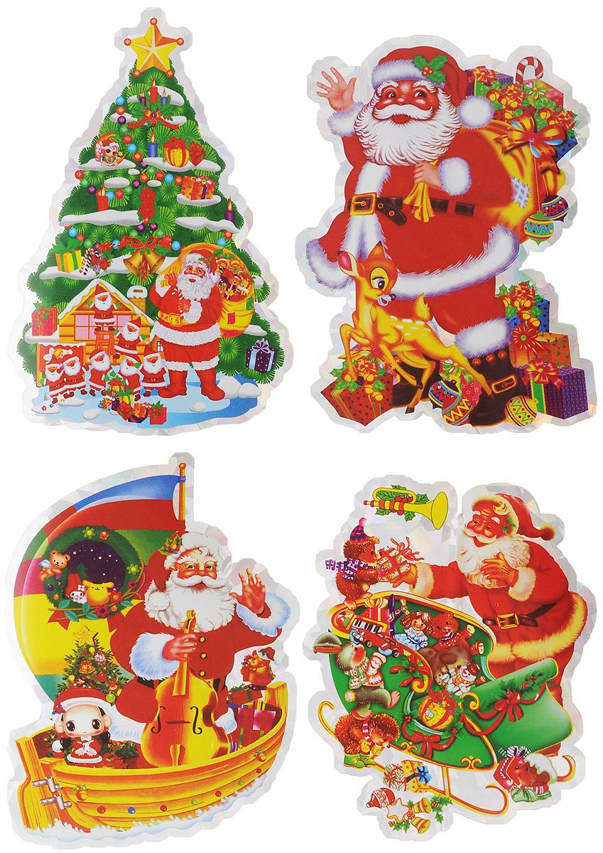 Украшение новогоднее оконное Winter Wings Дед Мороз, 4 штN09090_подаркиНовогоднее оконное украшение Winter Wings Дед Мороз поможет украсить дом к предстоящим праздникам. Наклейки изготовлены из ПВХ.С помощью этих украшений вы сможете оживить интерьер по своему вкусу, наклеить их на окно, на зеркало или на дверь.Новогодние украшения всегда несут в себе волшебство и красоту праздника. Создайте в своем доме атмосферу тепла, веселья и радости, украшая его всей семьей. Размер листа: 24,5 х 17,5 см. Количество наклеек на листе: 4 шт. Средний размер наклейки: 11 х 8 см.