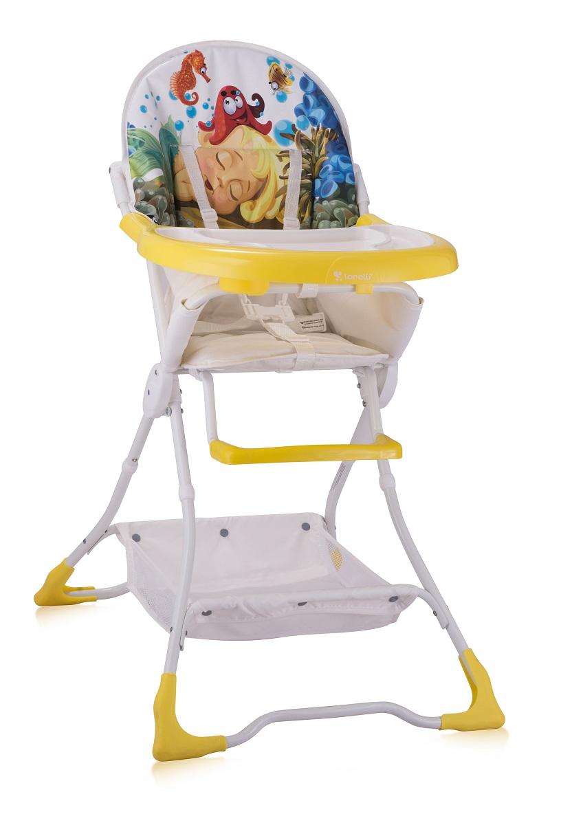 Lorelli Стульчик для кормления Bravo цвет белый желтый selby стульчик для кормления цвет белый зеленый 827378