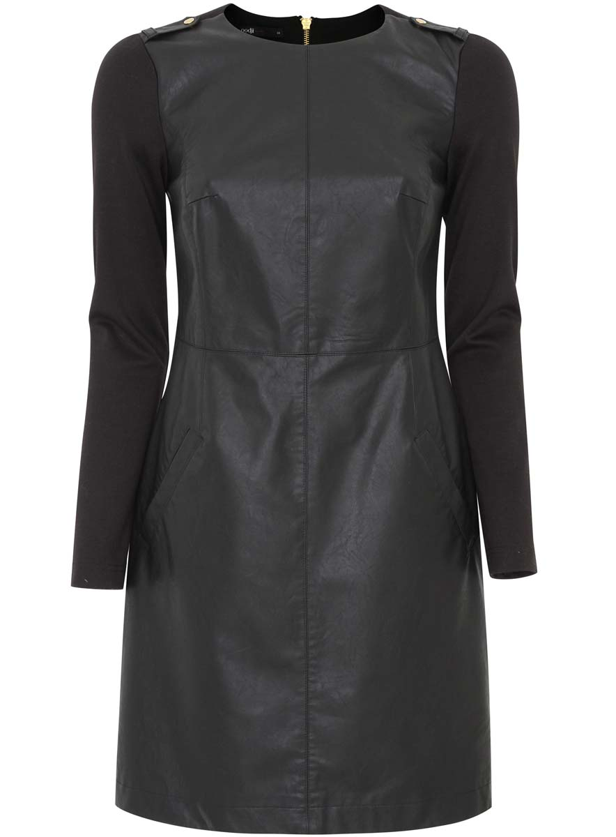 Платье oodji Ultra, цвет: черный. 11902146/42008/2900N. Размер 42 (48-170) платье oodji ultra цвет черный 14015017 1b 48470 2900n размер l 48