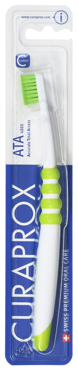 curaprox ck 4260 зубная щетка детская curaprox с гуммированной ручкой цвет голубой ck4260 Curaprox ATA Зубная щетка подростковая цвет: зеленый
