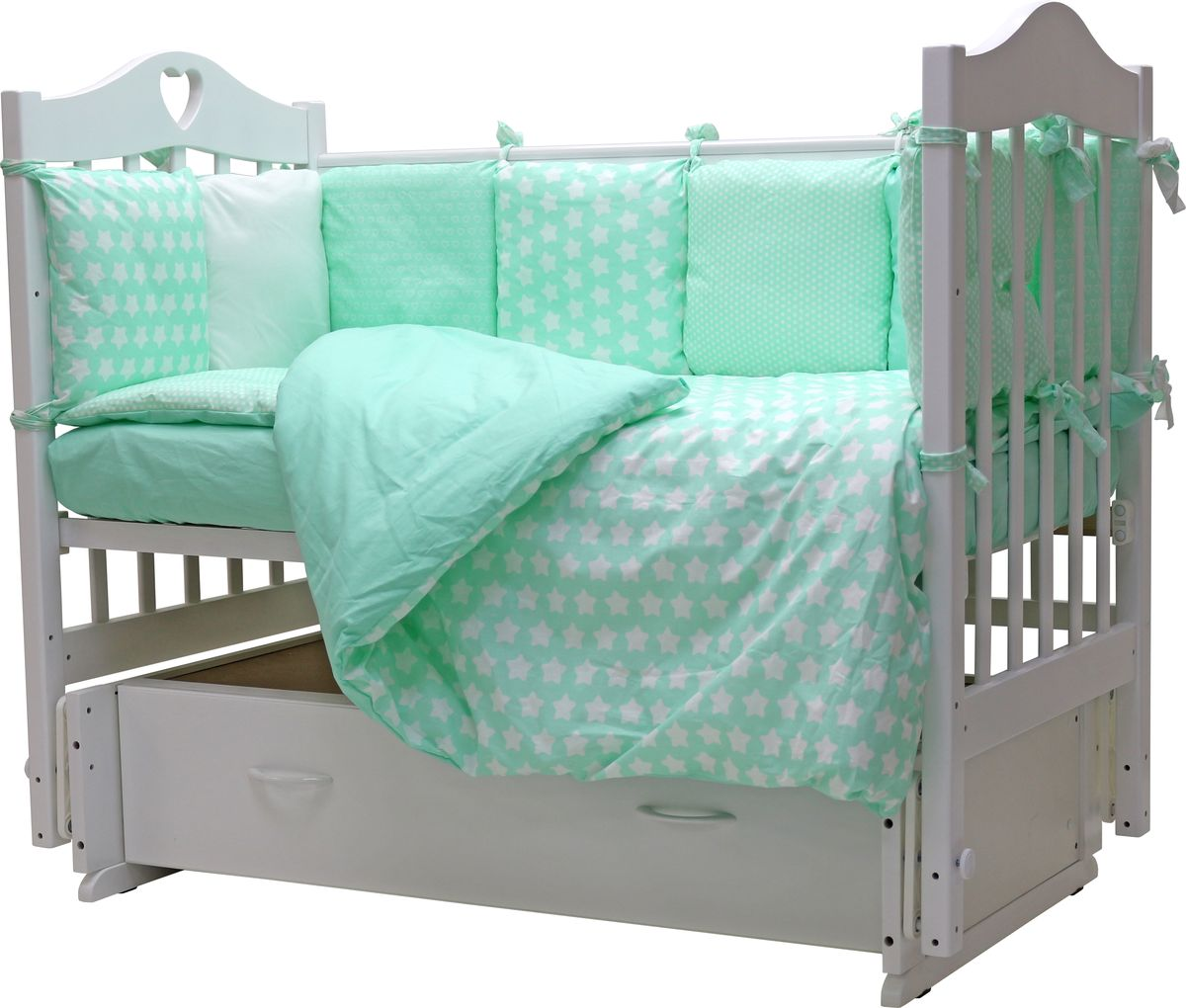 Топотушки Комплект детского постельного белья 12 месяцев цвет мятный 6 предметов топотушки комплект детского постельного белья тори 7 предметов