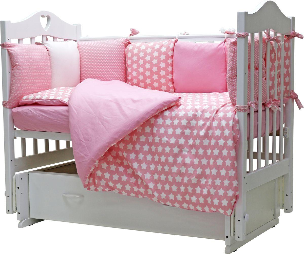 Топотушки Комплект детского постельного белья 12 месяцев цвет розовый 6 предметов letto комплект детского постельного белья фея цвет розовый