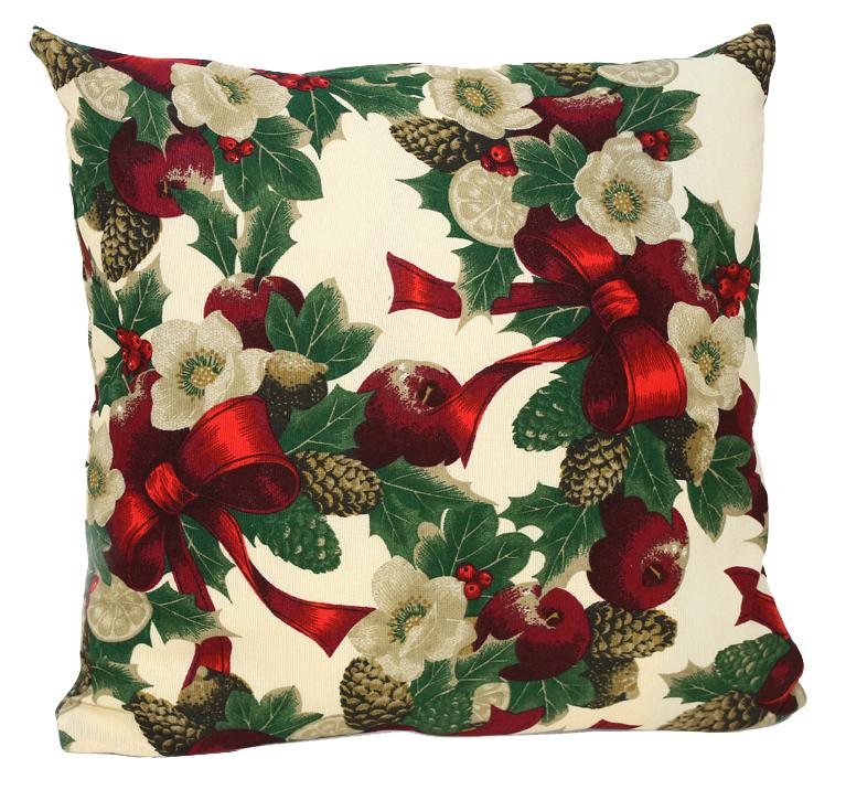 """Декоративная подушка """"Рождество"""" прекрасно дополнит интерьер спальни или гостиной. Чехол подушки выполнен из жаккарда.  Внутри находится мягкий наполнитель. Чехол легко снимается благодаря потайной молнии. Красивая подушка создаст атмосферу уюта и комфорта в спальне и станет прекрасным элементом декора.  Комплектация: 1 Наволочка на молнии, 1 подушка."""