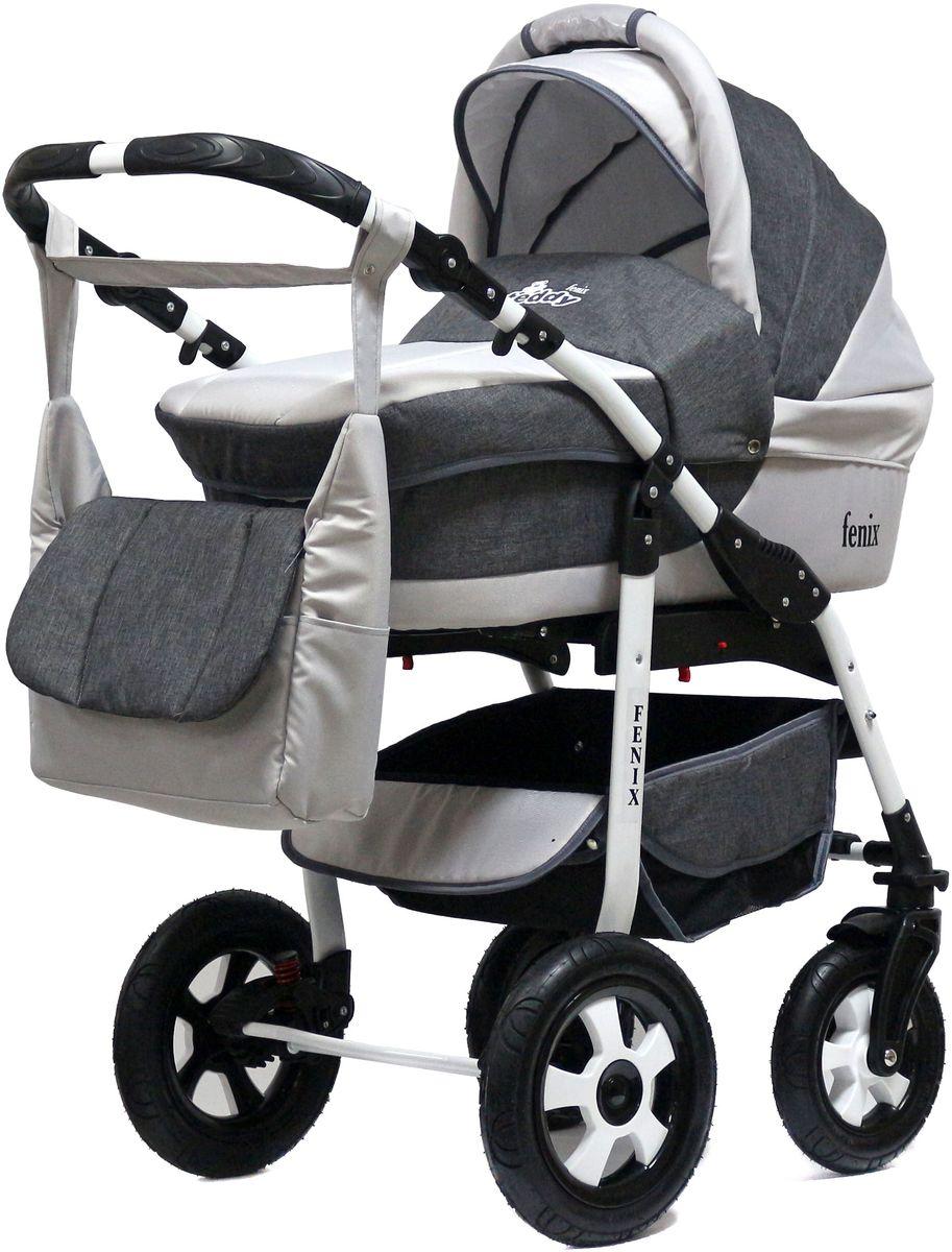 Teddy Коляска 2 в 1 Fenix Len цвет серый fenix правила безопасности дома для малышей