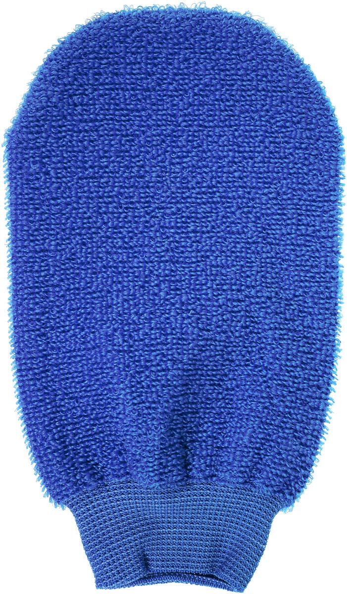 Riffi Мочалка-рукавица, массажная, двухсторонняя, цвет: синий riffi мочалка рукавица массажная двухсторонняя цвет синий