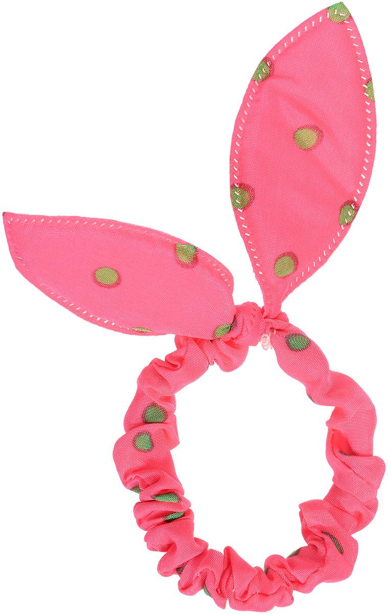 Magic Leverage Резинка для волос, цвет: розовый, зеленыйрг_розовый, зеленыйСтильная резинка для волос Magic Leverage подчеркнет красоту вашей прически. Резинка выполнена из мягкого текстильного материала и оформлена стильным принтом в горох, а также дополнена оригинальным бантиком, который будет великолепно смотреться в ваших волосах. С помощью такой резинки вы сможете создать множество оригинальных причесок. Яркость и удобство резинки для волос делают ее практичным и модным аксессуаром.