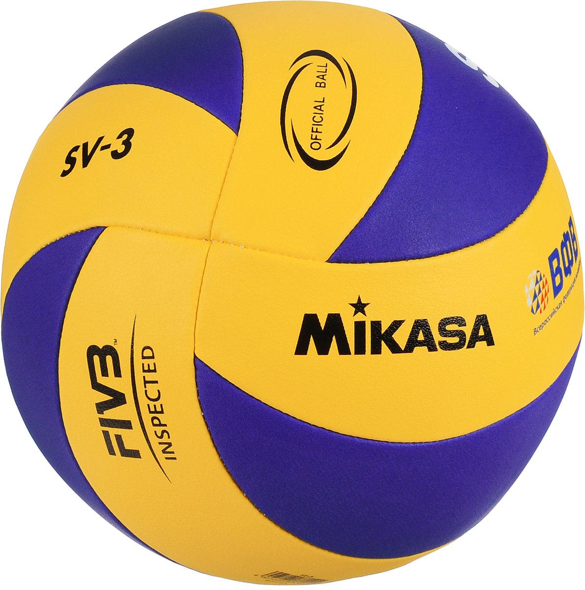 Мяч волейбольный Mikasa SV-3 School. Размер 5УТ-00001288Mikasa SV-3 School - это легкий детский мяч с бархатистой поверхностью. имеющий яркий дизайн, поверхность из мягкой синтетической пены. Состоит из 8 панелей, изготовленных из синтетической кожи машинной сшивкой. Технология сшивки панелей TwinSTLock обеспечивает долговечность и прочность, как у клееного мяча.УВАЖЕМЫЕ КЛИЕНТЫ!Обращаем ваше внимание на тот факт, что мяч поставляется в сдутом виде. Насос в комплект не входит.