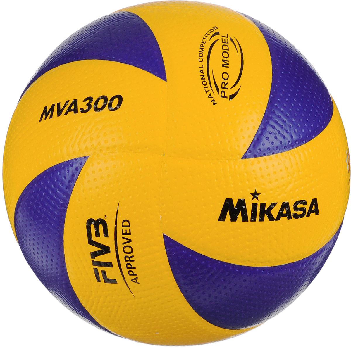 Мяч волейбольный Mikasa MVA 300. Размер 5УТ-00001282Мяч Mikasa MVA 300 предназначен для интенсивных тренировок и соревнований в зале. Изделие состоит из 8 панелей, выполненных из синтетической кожи на основе микрофибры с углублениями. Камера изготовлена из бутила.УВАЖЕМЫЕ КЛИЕНТЫ!Обращаем ваше внимание на тот факт, что мяч поставляется в сдутом виде. Насос в комплект не входит.