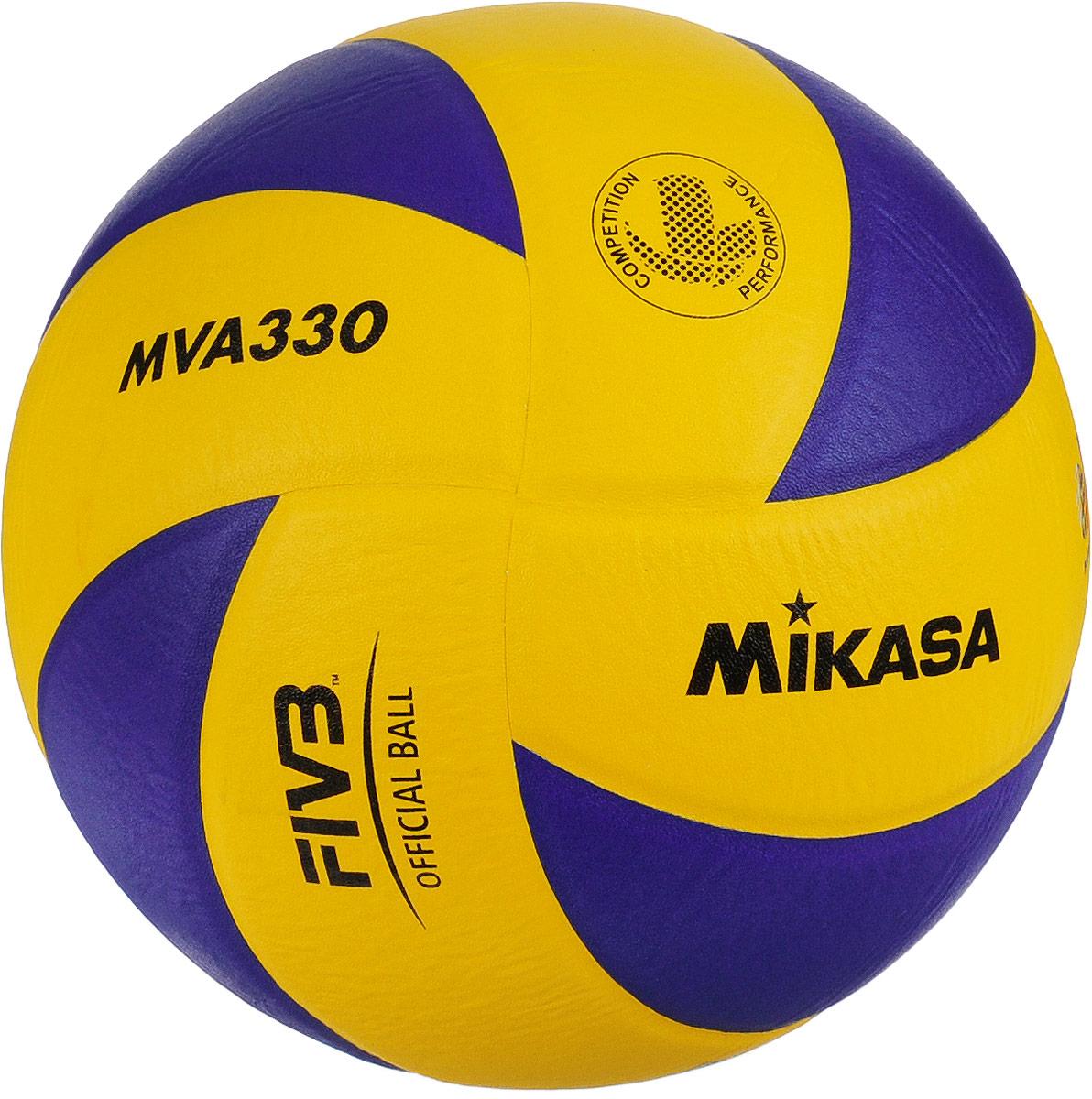 Мяч волейбольный Mikasa MVA 330. Размер 5УТ-00001285Мяч Mikasa MVA 330 предназначен для интенсивных тренировок и соревнований в зале. Изделие состоит из 8 панелей, выполненных из синтетической кожи. Камера изготовлена из бутила.УВАЖЕМЫЕ КЛИЕНТЫ!Обращаем ваше внимание на тот факт, что мяч поставляется в сдутом виде. Насос в комплект не входит.