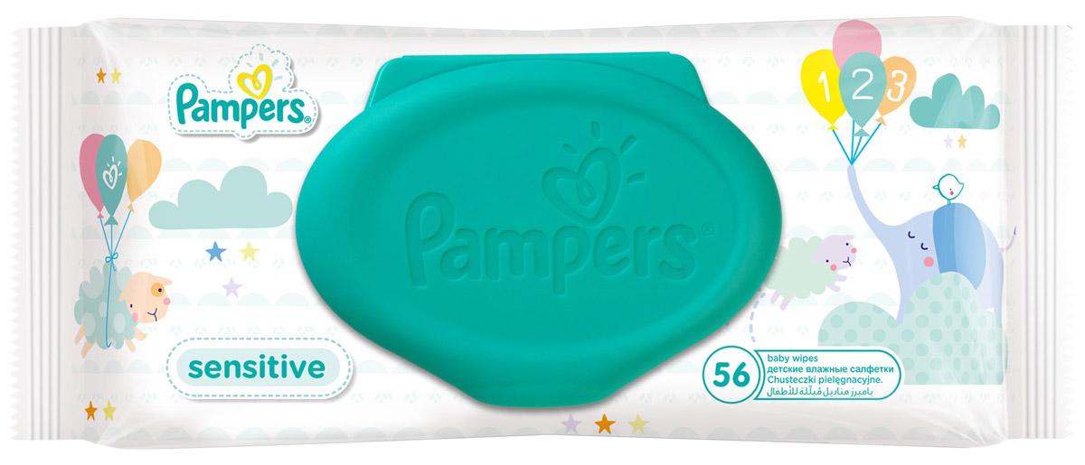 Pampers Влажные салфетки детские Sensitive 56 штPA-81448534Каждый малыш нуждается в нежном очищении, именно поэтому влажные салфетки Pampers Sensitive позволяют бережно заботиться о детской коже. Благодаря своей уникальной мягкой текстуре SoftGrip и дополнительному увлажнению, они очищают кожу малыша еще нежнее, чем раньше, поддерживая естественный уровень pH. Новые салфетки стали на 15% плотнее, чем Pampers Baby Fresh. Чтобы мамам было удобно открывать и закрывать упаковку, а салфетки оставались влажными как можно дольше, добавлена специальная крышечка для многоразового пользования. Не бойтесь сюрпризов с Pampers Sensitive!В упаковке 56 салфеток.