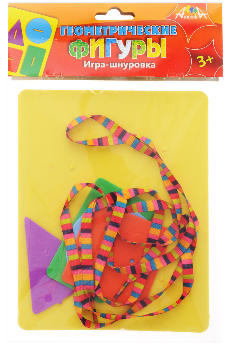 цена на Апплика Игра-шнуровка Геометрические фигуры С2567-01