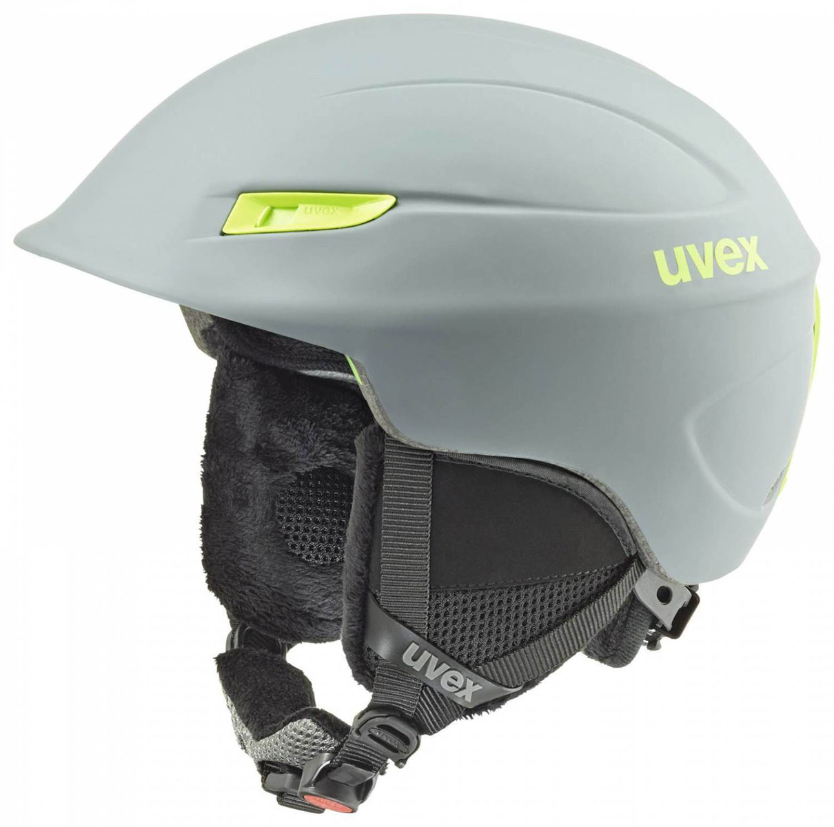 Шлем зимний Uvex Gamma, цвет: зеленый. Размер L/XL6189-5007Шлем Uvex Gamma предназначен для катаний на сноуборде и занятий другими зимними развлечениями. Шлем снабжен универсальным внутренним настроечным кольцом, регулируемыми текстильными ремешками и вентиляционными отверстиями. Большое количество вентиляционных отверстий гарантирует отличную циркуляцию воздуха на разных скоростях движения при сохранении жесткости. Подстежка изготовлена из пенополистирола. Ее роль заключается в рассеивании энергии при ударе, что защищает голову. Верхняя часть шлема, выполненная из прочного пластика, препятствует разрушению изделия, защищает шлем от прокола и позволять ему скользить при ударах. Способность шлема скользить по поверхности является важной его характеристикой, так как при падении движение уменьшается не сразу, а постепенно, снижая тем самым нагрузку на голову и шею. Шлем оснащен утеплительной подкладкой и мягкой защитой ушей. При желании подкладку можно снять, что позволяет использовать шлем и в теплый период времени.Надежный шлем с ярким дизайном обеспечит высокую степень защиты. А вентиляционные отверстия сделают катание максимально комфортным.