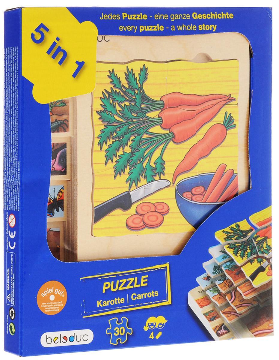 Beleduc Пазл для малышей Морковка 5 в 1