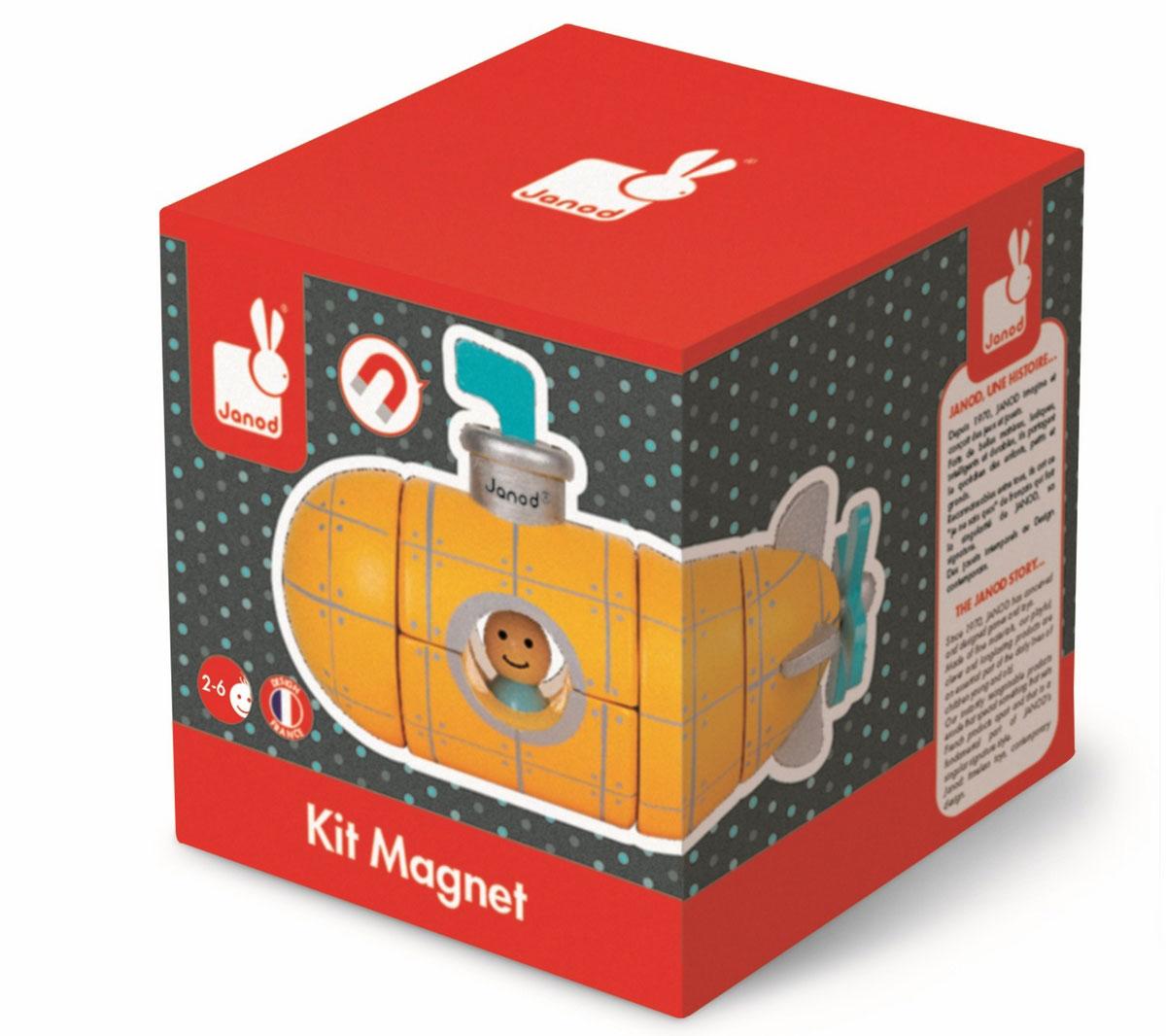 Janod Конструктор магнитный Подводная лодка игрушка водная душ подводная лодка и кит yookidoo