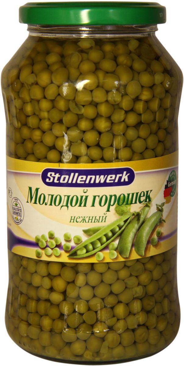 Stollenwerk горошек нежный молодой, 720 млСТo 89053Горошек Stollenwerk собирается молодым, неперезревшим; мелкий и нежный на вкус.