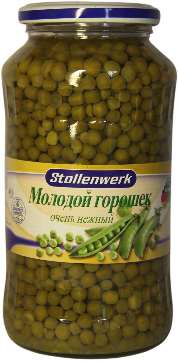 Stollenwerk горошек молодой деликатесный, 720 млСТo 89156Горошек Stollenwerk собирается молодым, неперезревшим; мелкий и нежный на вкус.