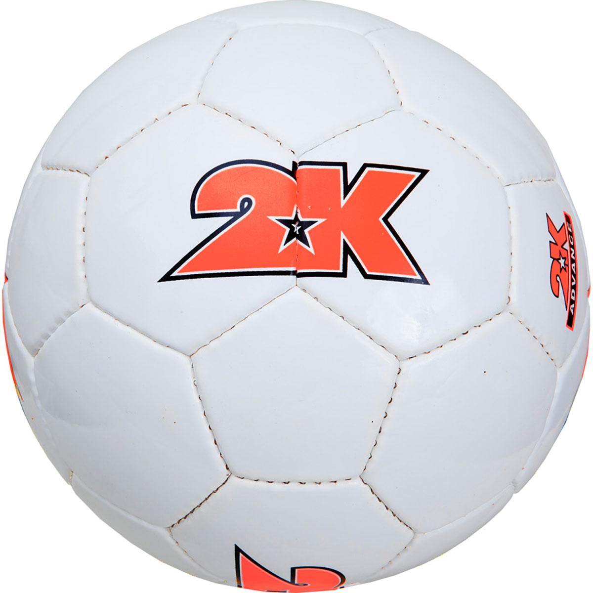 Мяч футбольный 2K Sport Advance, цвет: белый, оранжевый. Размер 5127048Любительский футбольный мяч 2K Sport Advance изготовлен из полиуретана. Бесшовная камера выполнена из натурального латекса. Сшивка производилась вручную. Швы проклеены для герметизации.
