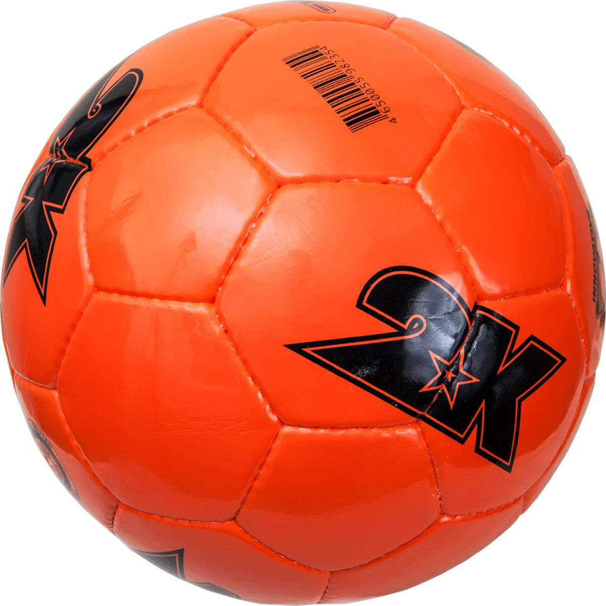 Мяч футбольный 2K Sport Merkury, цвет: оранжевый, черный. Размер 5127062Любительский футбольный мяч 2K Sport Merkury изготовлен из полиуретана, полиэстера и хлопка. Сшивка производилась вручную. Швы проклеены для герметизации.