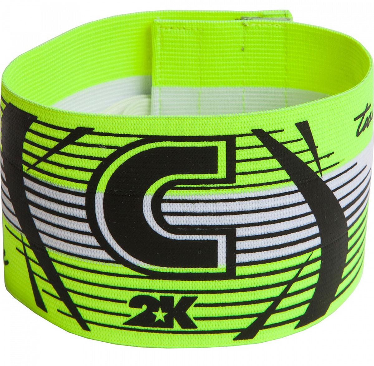 Повязка капитанская 2K Sport Captain, цвет: светло-зеленый, черный126317Яркая повязка на руку 2K Sport Captain применяется для того, чтобы выделить на поле капитана команды. Выполнено изделие из высококачественного полиэстера. Размер универсальный.