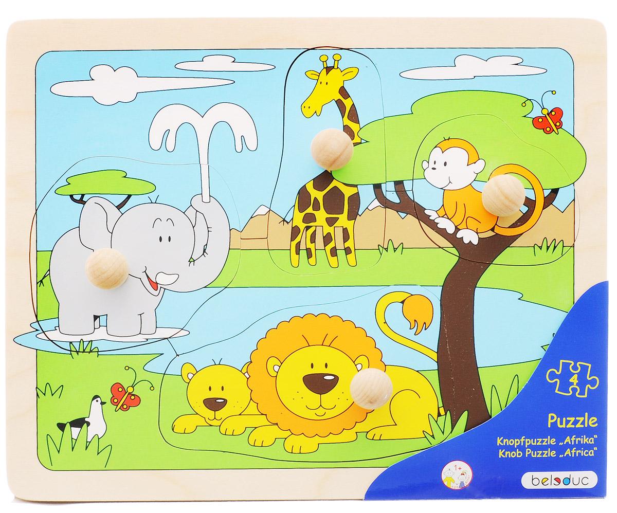 Beleduc Пазл для малышей Африка learning journey пазл для малышей озорные фигуры 4 в 1